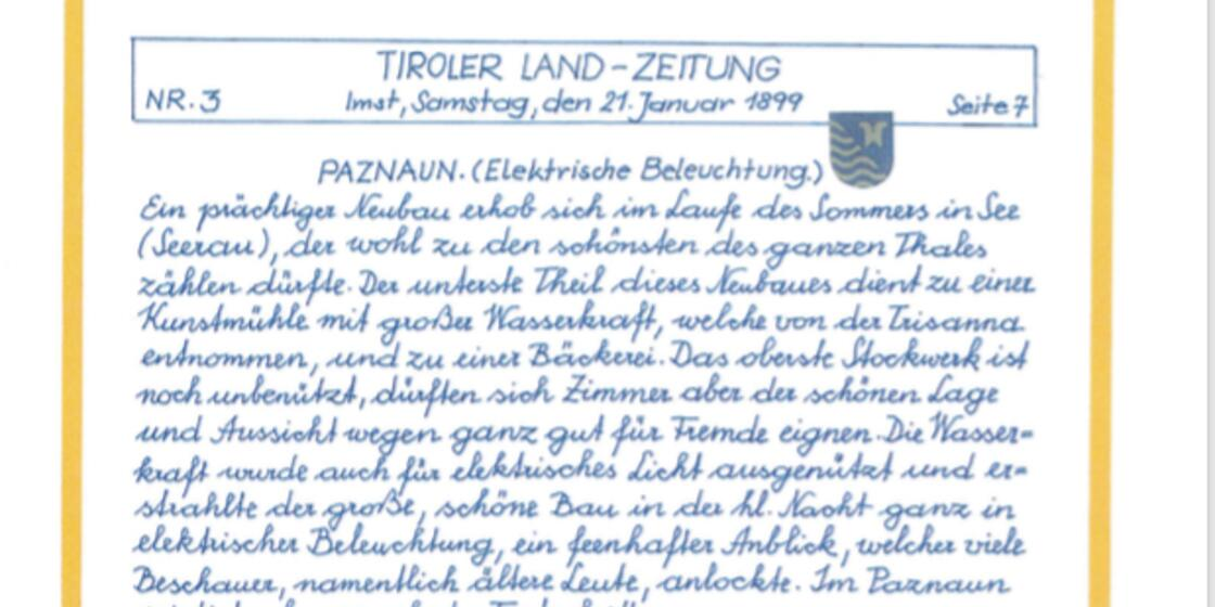 Tiroler Land newspaper