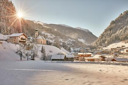 local area of See Tyrol in winter
